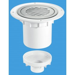 McAlpine 75mm Water Seal Gully with Vertical Outlet TSG2SS-SL-NSC