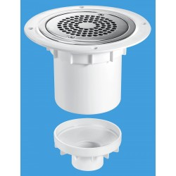 McAlpine 75mm Water Seal Gully with Vertical Outlet TSG2-ANTI/LIG