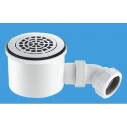 "McAlpine 1 1/2"" 90mm Hi-Flow Shower Trap ST90CPB-P-HP2"