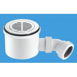 "McAlpine 1 1/2"" 90mm Hi-Flow Shower Trap ST90CPB-S-HP2"